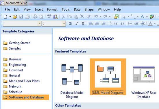 UML sequence diagram Microsoft Visio 2007