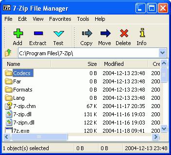 โปรแกรม 7-Zip