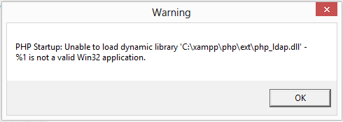 Unable to load dynamic library  php_ldap.dll