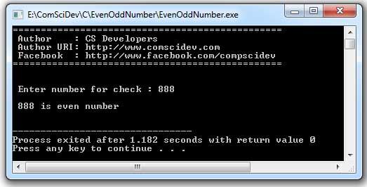 โค้ดภาษาซี ตรวจสอบตัวเลขว่าเป็นเลขคู่ (even) หรือเลขคี่ (odd)