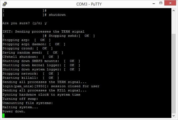 วิธีปิดเครื่อง Check Point UTM-1 570 Firewall