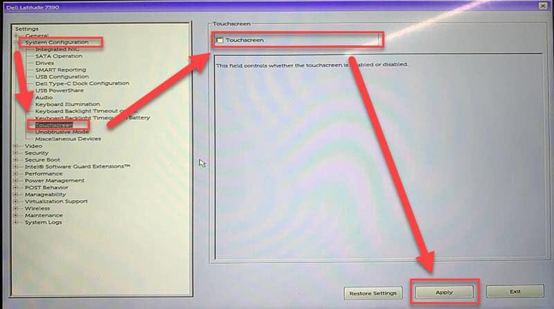 วิธีปิด-เปิด Touch Screen ของโน๊ตบุ๊ค DELL