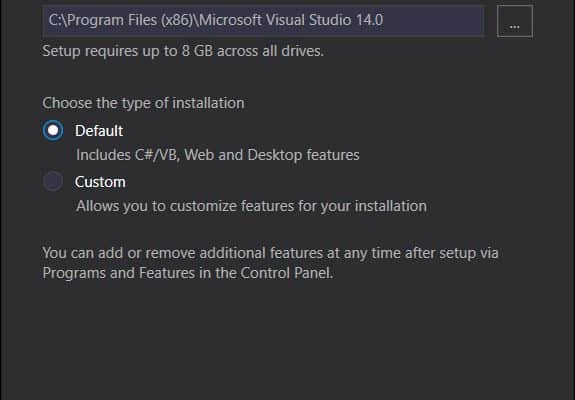 วิธีติดตั้งโปรแกรม Microsoft Visual Studio Community 2015 Update 3