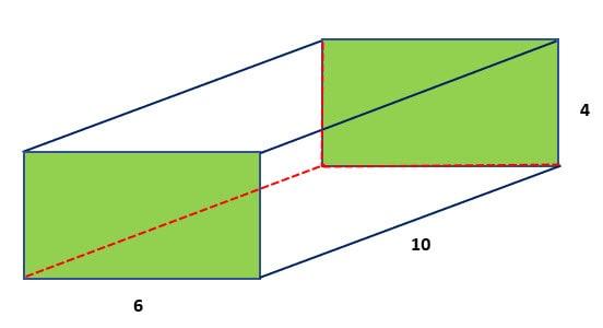 โค้ดภาษาซี คำนวณหาปริมาตรของปริซึมสี่เหลี่ยม